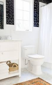 tranquil bathroom ideas home tour a crisp edgy and eclectic family home interiors bath