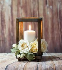 wedding table decorations candle holders reclaimed wood candle lantern centerpiece rustic wedding table