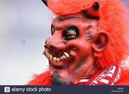 kaiserslautern u0027s mascot in a devil mask seen during the german