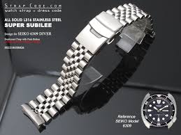 seiko solid bracelet images 22mm super jubilee 316l stainless steel watch band for seiko diver jpg