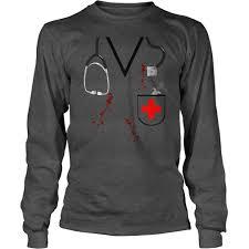 bloody doctor halloween costume bloody doctor or nurse zombie halloween costume shirt gift ideas