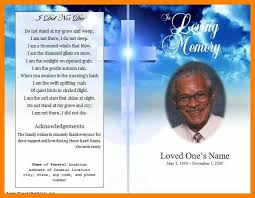 template for a funeral program 9 free funeral phlet template actor resumed