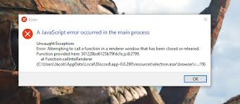 discord javascript error i ve been getting this error as of late and it s normally
