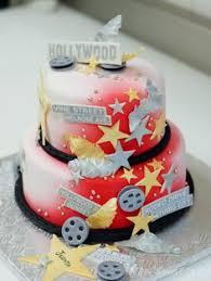 50th birthday star theme hollywood star cake for a hollywood