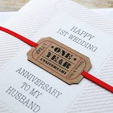 personalised wedding anniversary card by button box cards