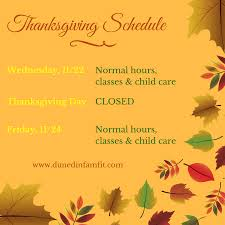 dunedin family fitness thanksgiving schedule dunedin family
