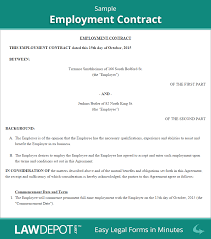 employment contract free employee agreement form us lawdepot