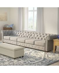 gray chesterfield sofa savings on gowans 5 seater button tufted chesterfield sofa