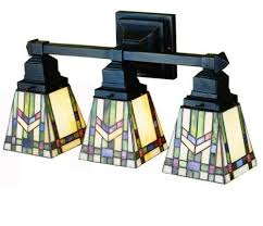 Mission Style Bathroom Vanity Lighting Prairie Wheat Mission Tiffany Stained Glass Bathroom Lighting
