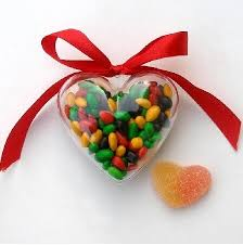 heart shaped candy clear heart candy box shaped plastic bin balloon weight