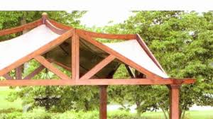 Lowes Arbor Kits by Lowes Garden Treasures 10 X 10 Pergola Replacement Canopy Youtube