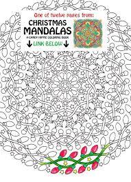 christmas mandala coloring night lights printable