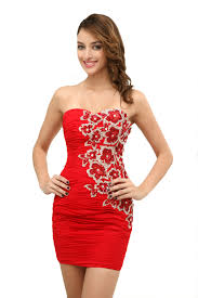 buy diyouth latest sheath column short mini satin prom dresses