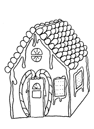 gingerbread house coloring pages with candy cane coloringstar