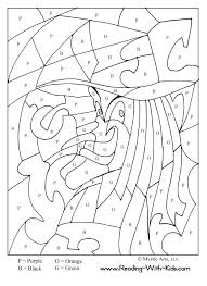 halloween color letter witch coloring halloween