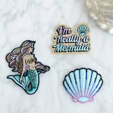 mermaid iron on patches s 3 mermaid seashell i m really a