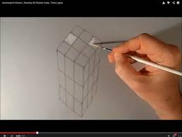 how to draw a cube rubik in 3d