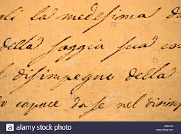 italian writing paper close up of italian cursive text on an old letter handwritten close up of italian cursive text on an old letter handwritten landscape size stock photo
