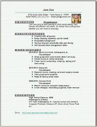 resume examples housekeeping housekeeping resume example best