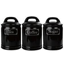 black ceramic kitchen canisters ceramic kitchen canister sets ebay
