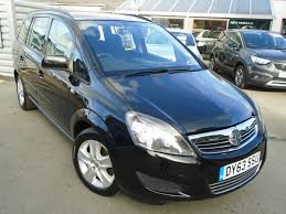 used vauxhall zafira black for sale motors co uk