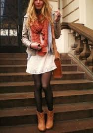 wear a summer dress in the fall add boots jacket and leggings