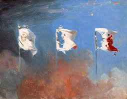 Blue Flag White X Painting The White Flag Of The French Monarchy Transforms Into