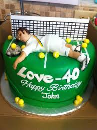 tennis cake toppers check out this cool birthday cake we made for a tennis enthusiast