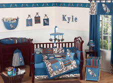 Jojo Crib Bedding Set Sweet Jojo Designs Blue And Brown Tropical Hawaiian Surf