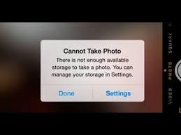 iphone cannot take photo iphone 6 cannot take photo memory full error iphone help q a