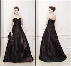 2015 new arrival black evening dresses taffeta flower draped