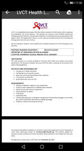 lvct hiring research assistant opportunities for young kenyans