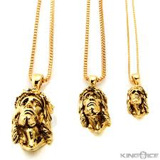 jesus piece necklace images King ice 14k gold antique jesus piece necklace kingice jpeg