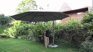Ebay Patio Umbrellas by Sun Shade Umbrella For Sale On Ebay Youtube