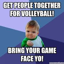 Volleyball Meme - game face
