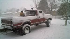 1977 Ford Truck Mudding - doing donuts in a 1978 ford truck in the snow youtube