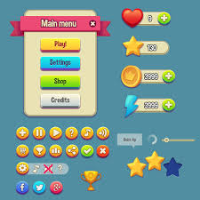 cartoon style game gui kit free psd download download psd