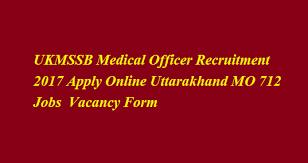 ukmssb medical officer recruitment 2017 apply online uttarakhand