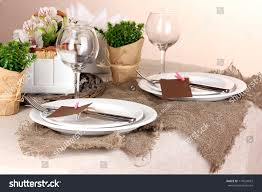rustic table setting ideas rustic table setting stock photo 119524072 shutterstock rustic