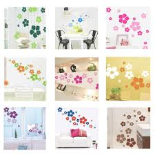 online buy wholesale flower wall sticker from china flower wall 1pc removable beautiful flowers wall sticker children living room bedroom decor environmental protection diy wall stickers