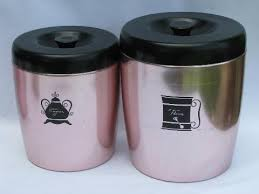 pink kitchen canisters vintage west bend copper pink aluminum kitchen canisters shakers