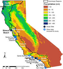San Francisco Ca Map by Map Of California Showing The 4 Coastal Hydrologic Regions Hrs