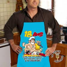 tablier de cuisine homme humoristique tablier de cuisine homme 18 ans
