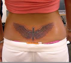 best cross tattoos wings