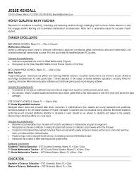 experienced teacher resume examples highly qualified math teacher resume sample for high
