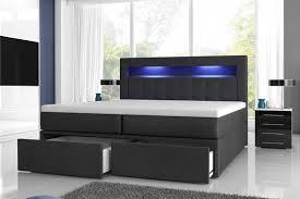 Schlafzimmer Bett Mit Led Boxspringbett Milano 2 Mit Bettkästen Und Led Möbel Für Dich