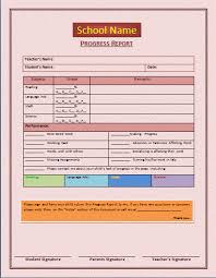elementary progress report template progress report template progress report template microsoft
