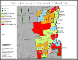 New York Map Districts by Libraries In New York State Assembly District 114 Library