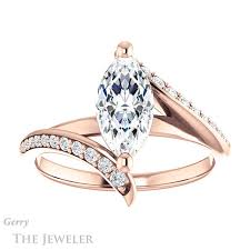 marquise cut engagement rings marquise cut engagement ring setting gtj1128 marquise r gerry