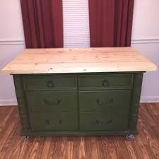 Repurposed Dresser Kitchen Island - refurbished repurposed an old dresser for my kitchen island added